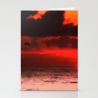 Pelican at Sunrise Stationery Cards