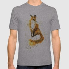 Bushy Tailed Mens Fitted Tee Athletic Grey SMALL