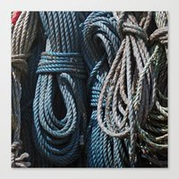 A Load of Old Rope Canvas Print