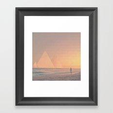The California Summer Series // Sunset Framed Art Print