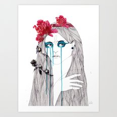 Painted Eyes Art Print