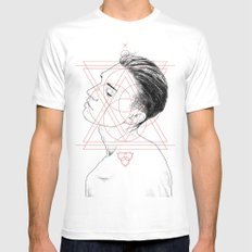 Face Facts I SMALL Mens Fitted Tee White