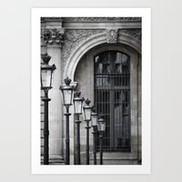Parisian Streetlamps Art Print