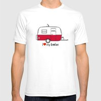 Vintage Boler camper Mens Fitted Tee White SMALL