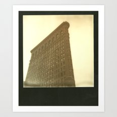 Flatiron Polaroid Art Print
