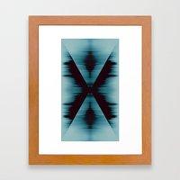 Aquamarine X Framed Art Print