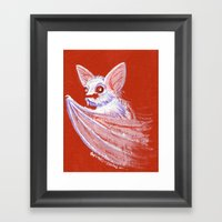 White Bat Framed Art Print
