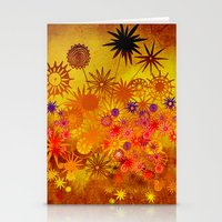summer flower magic Stationery Cards