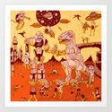 War of the Worlds (man-child edition)...red Art Print