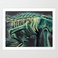 Dinosaur Bones Skeleton Art Print
