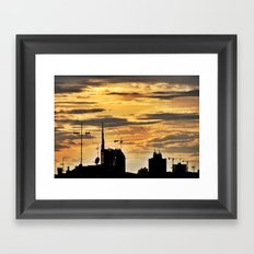 Milano City Skyline {Italy} Framed Art Print