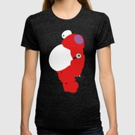 Baymax Womens Fitted Tee Tri-Black LARGE
