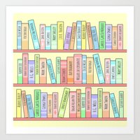Classics Bookshelf Art Print