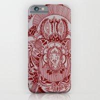 Maroon Mask iPhone 6 Slim Case