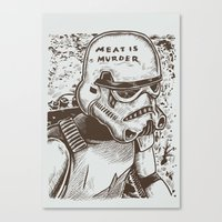 The Smiths Parody Meat I… Canvas Print
