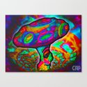 Shroomery #1 Psychedelic Colorful Mushroom Trippy Character Design Canvas Print