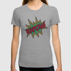 Kapow Womens Fitted Tee Tri-Grey SMALL
