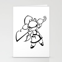 Kawaii Doll Samurai Stationery Cards
