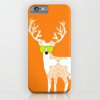 Orange Reindeer Art iPhone 6 Slim Case