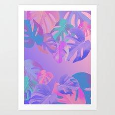 Monstera multi Art Print
