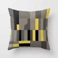 White Rock Yellow Throw Pillow