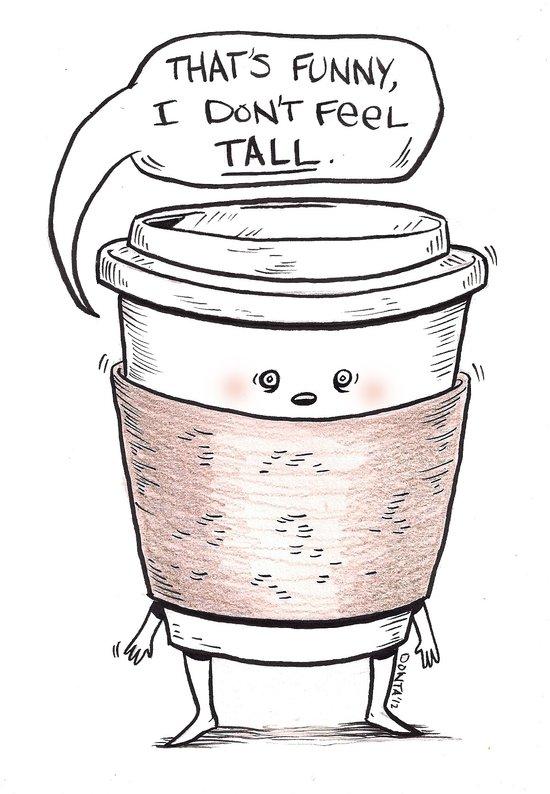 Small Coffee Problems Art Print