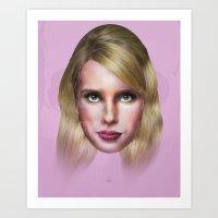 Emma Roberts Art Print
