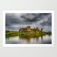 Caerphilly Castle South East View 2 Art Print