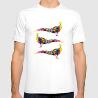 Pheasant Mens Fitted Tee White SMALL