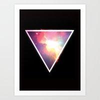 Nebula Triangle Art Print