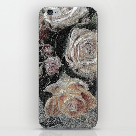 First Frost- Frozen Flowers  iPhone & iPod Skin