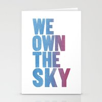We Own The Sky Stationery Cards
