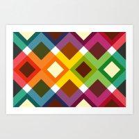 Squares & Colours (2013) Art Print