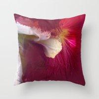 Crimson Orchid Throw Pillow