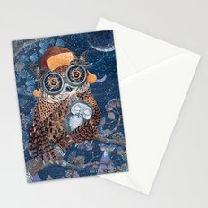 Owl and baby owlet Stationery Cards