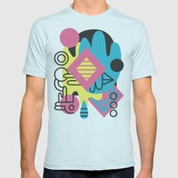 Espectre (#1) Mens Fitted Tee Light Blue SMALL