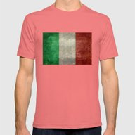 The National Flag Of Ita… Mens Fitted Tee Pomegranate SMALL