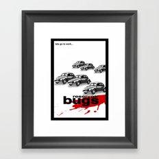Reservoir bugs Framed Art Print