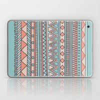 Tribal #4 (Coral/Aqua) Laptop & iPad Skin