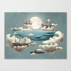Ocean Meets Sky  Canvas Print