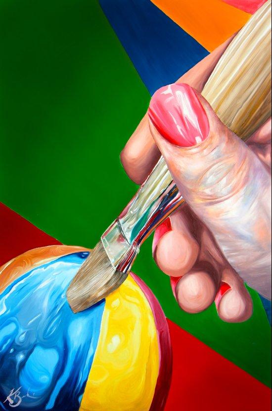 Creative Touch Art Print