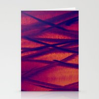 Metal In Red / Orange Stationery Cards