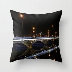 Queens Bridge Belfast Throw Pillow