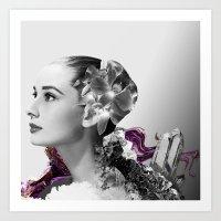Quartz Armor & Orchids in Her Hair Art Print