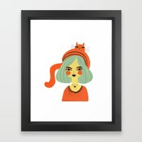 CAT BONNET Framed Art Print