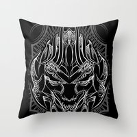 Pinstripe Megatron Throw Pillow
