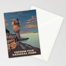 Fathom Five National Park Poster (Flowerpot Island) Stationery Cards