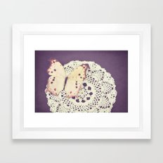 Look back on time with kindly eyes Framed Art Print