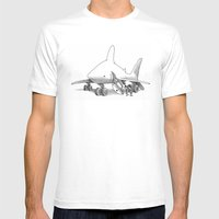 Pilot Fish Mens Fitted Tee White SMALL
