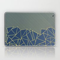 Ab Lines 45 Navy and Gold Laptop & iPad Skin
